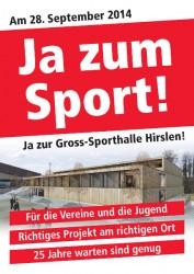 Am 28. September 2014 stimmten 65% der Bülacher für die Sporthalle.