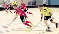 Der ehemalige Bülach-Junior Roger Schellenberg (links) spielt nach zwei Saisons in Winterthur wieder in der Kasernenhalle.
