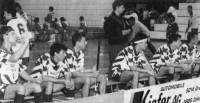 Thomas Balderer, Christof Zuppinger, Philipp Büchi, Ruedi Fritschi (stehend), René Künzle, Daniel Ineichen und Matthias Wild in der Saison 1996/1997.